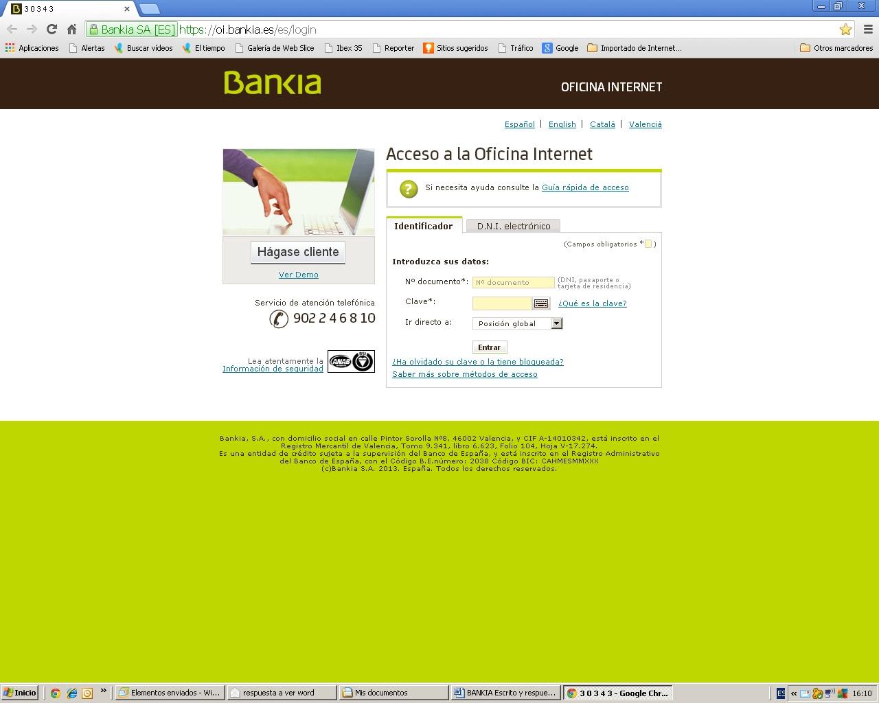 Sin categor a cometa rojo p gina 5 for Bankia oficina de internet